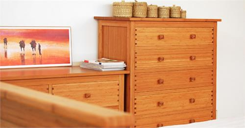 Hosta Five Drawer Chest Greenington Bamboo Bedroom Furniture
