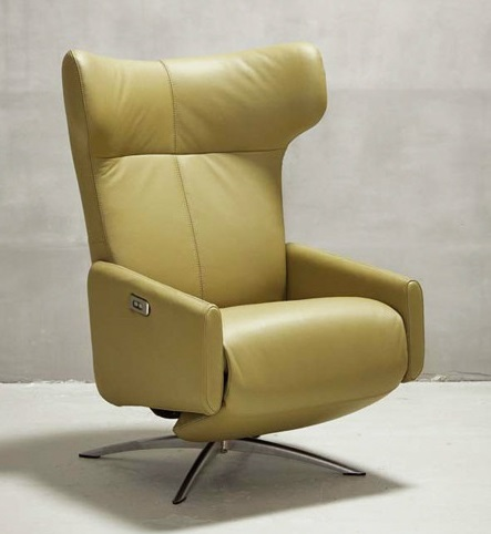Kebe Cowe Motorized Leather Recliner Chair Kebe Denmark
