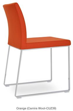 An Aria Sled Chair Side Chair Dining Chair Soho Concept