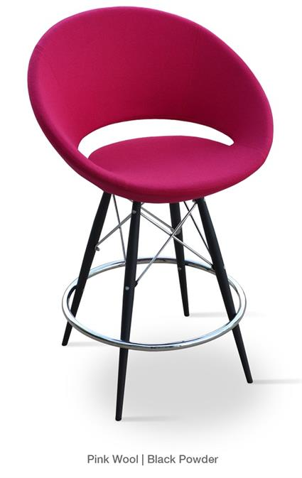 Crescent MW Counter Stool Metal Base Soho Concept Stool