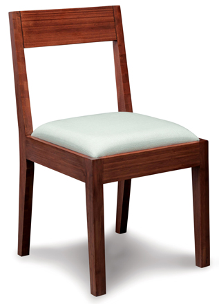 Hazel Upholstered Chair Greenington Bamboo Dining Furniture
