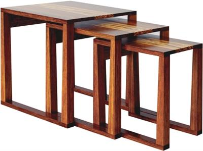Magnolia Nesting Tables Greenington Bamboo Living Room Furniture