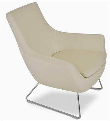 Soho Concept Rebecca Armchair Wire Sled Base Lounge Chair