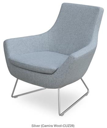 Rebecca Armchair Wire Sled Base Lounge Chair Soho Concept