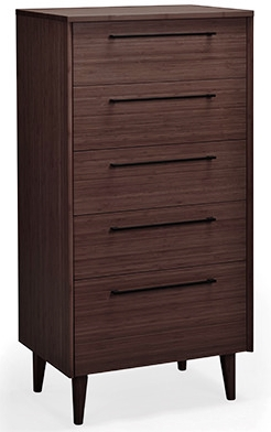 Sienna Five Drawer Chest Greenington Bamboo Bedroom Furniture