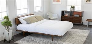 African Mahogany Solid Wood Bed by Modernica Case Study Furniture