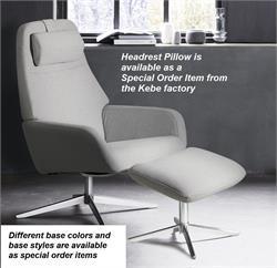 Kebe Camillo Fabric Upholstery Recliner Chair Kebe Denmark