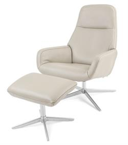 Kebe Camillo Leather Recliner Chair and Footrest Kebe Denmark