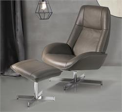 Ergonomic Swivel Recliner Roma Leather Kebe Recliner Chair and Footrest Kebe
