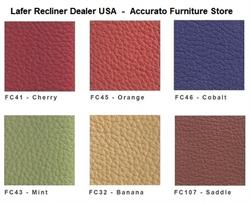 A SET OF FREE LEATHER SAMPLES for Lafer Recliner Chairs - Up to 6 Samples Free