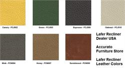 SET of FREE LEATHER SAMPLES for Lafer Recliner Chairs - Up to 6 Samples Free