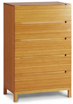 Orchid Five Drawer Chest Greenington Bamboo Bedroom Furniture