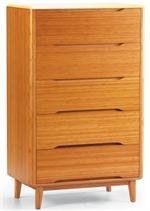 Currant Five Drawer Chest Greenington Bamboo Bedroom Furniture