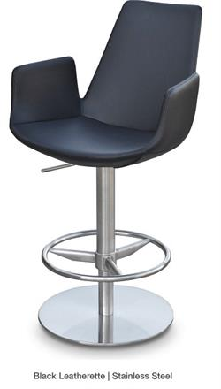 Soho Concept Eiffel Arm Piston Stool Adjustable Height Stool