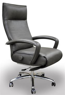 Lafer Gaga Executive Recliner Chair Leather Office Recliner by Lafer