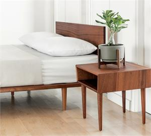 African Mahogany Solid Wood Bedside Table by Modernica