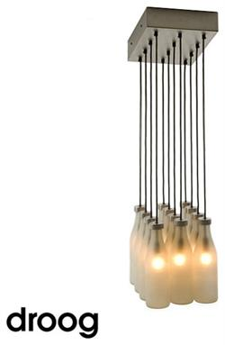 Chandelier Milk Bottle Chandelier 12 Lamps Droog Design Lamp