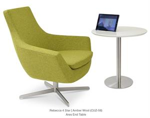 Rebecca Armchair 4 Star Base Lounge Chair Soho Concept