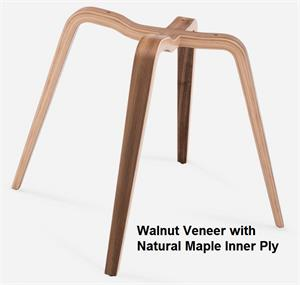 Spyder Wood BASE ONLY Modernica Fiberglass Chair Base